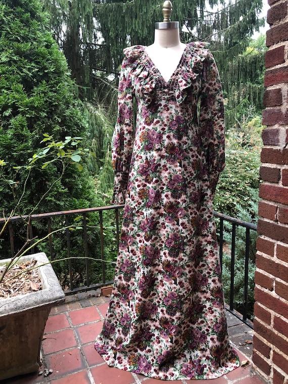 Vintage 70's Styled Floral Dress Cottagecore - image 2