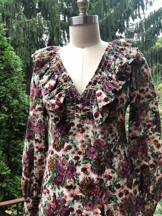 Vintage 70's Styled Floral Dress Cottagecore