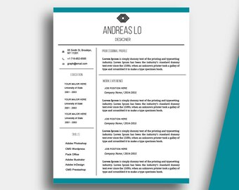 CV Template Microsoft Word Professional Resume Template, Modern Design,  Instant Download, Cover Letter, Resume Cover Letter