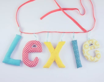 Garland name 5 letters stuffed cloth - personalized birthday gift idea - custom