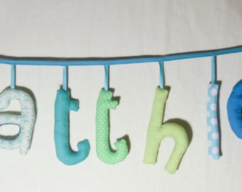 Garland name to 8 letters stuffed cloth - personalized birthday gift idea - custom