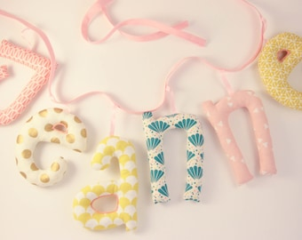 Garland name 6 letters stuffed cloth - personalized birthday gift idea - custom
