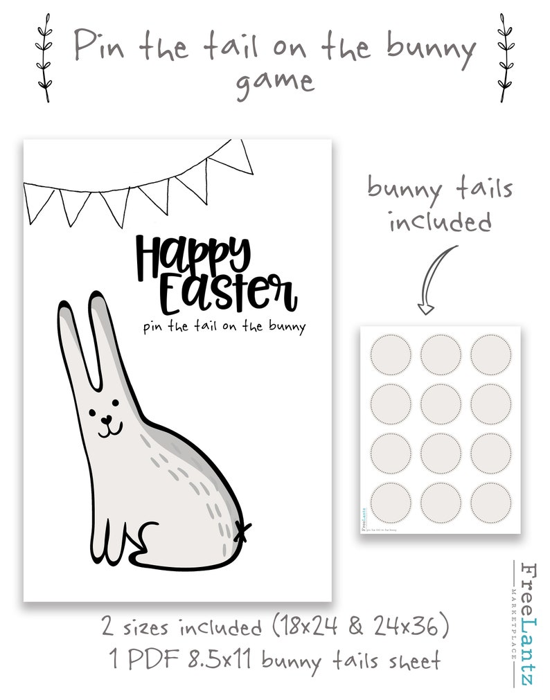 photo regarding Pin the Tail on the Bunny Printable titled pin the tail recreation, bunny video game, clroom match, easter get together suggestions, spring game, easter match, easter bunny video game, youngsters printable online games