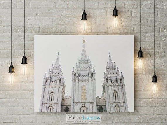 LDS Salt Lake temple art, lds temple, Salt Lake temple print, Salt Lake City, lds art, lds printables, instant download