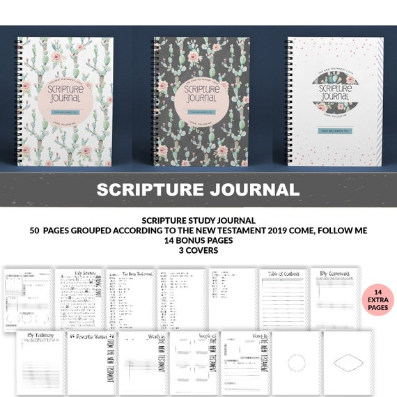 Come Follow Me, New Testament 2019, scripture journal, lds young women, lds  printables, lds family, scripture study