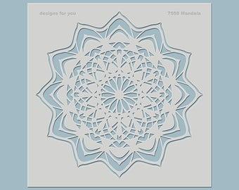 Stencil - Mandala - decorative stencil for wall design, canvas, furniture, fabrics,...