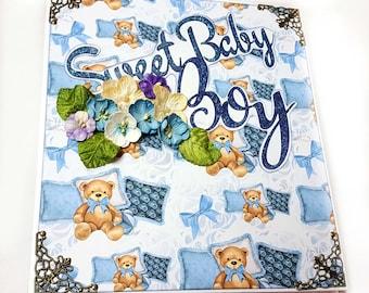 Baby Boy Mini Album, photo album, photo album scrapbook, photo album baby