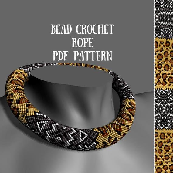 Bead Crochet Rope Pattern Beading Patterns Bead Crochet Etsy