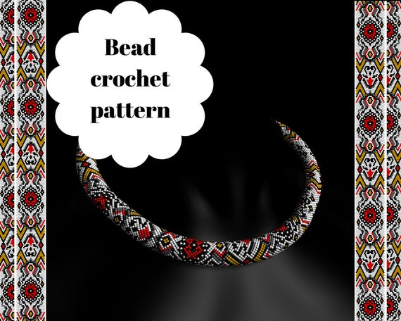 Bead Crochet Rope Pattern Beaded Necklace Patterns Diy Bead Etsy