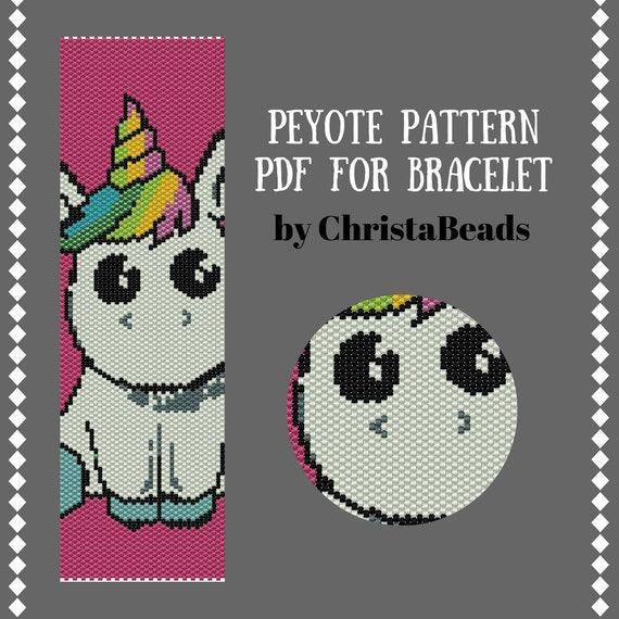 Peyote PDF pattern miyuki delica pattern seed bead pattern Feathers Peyote Bracelet Pattern Peyote stitch bracelet pattern