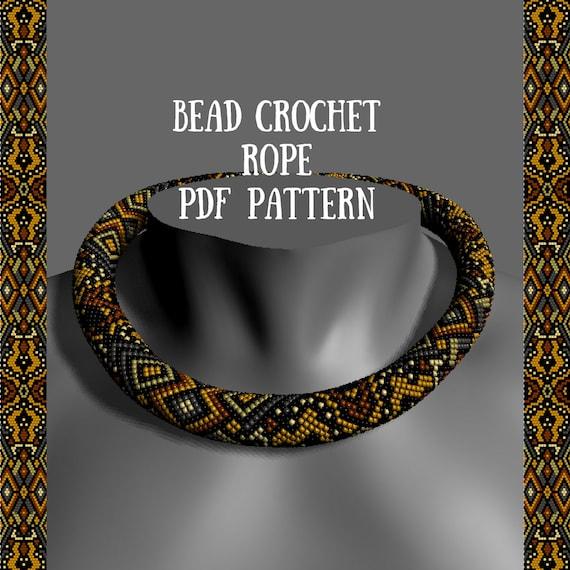 Bead Crochet Necklace Pattern Pdf Pattern Tutorial Bead Etsy