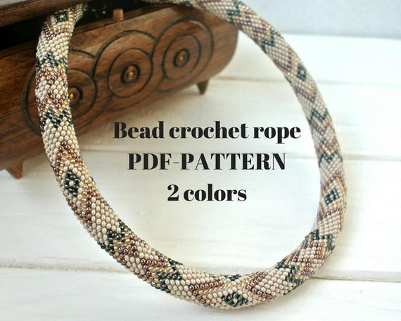 Beaded Patterns For Seed Beads Beaded Necklace Patterns Beaded Etsy