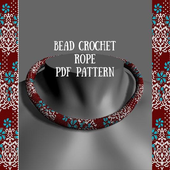 Beaded Pattern For Seed Beads Bead Crochet Pattern Bead Etsy