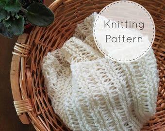 The Cassidy Shawl Scarf Pattern | Knit Shawl Scarf Pattern | Knit Shawl Pattern | Knit Scarf Pattern | Lightweight Scarf | Drop Stitch Scarf