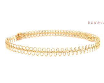 Choker necklace Choker vintage metal gold