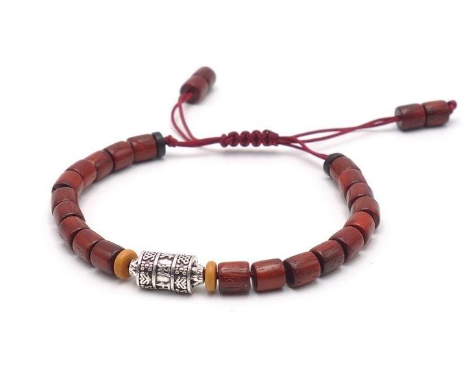 Tibet Armband - Mantra Braun