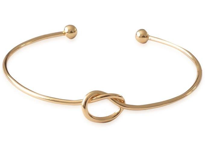 Damen Armreif Knoten – Gold