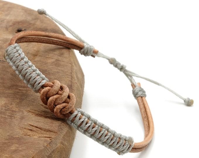 Tibet Armband - Leather Grau