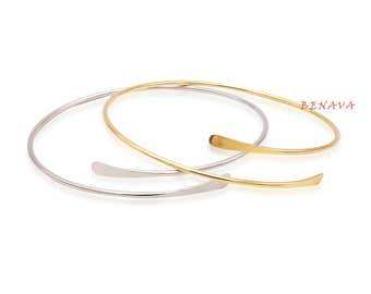 bangle bracelet gold silver women's gift