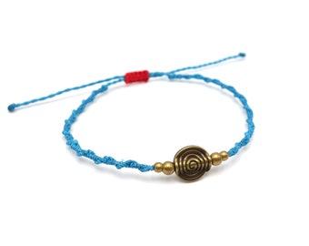 Tibet Armband - Copper Blau