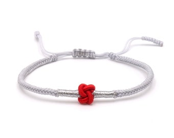 Tibet Armband - Knot Grau