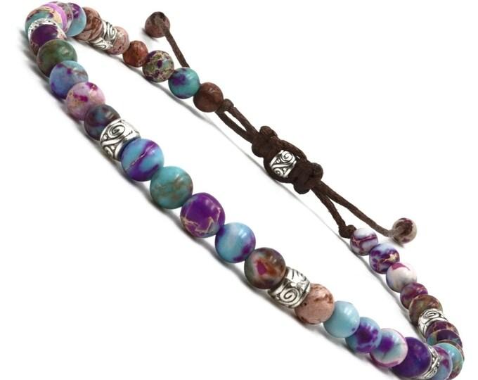 Yoga Armband - Jaspis Bunt