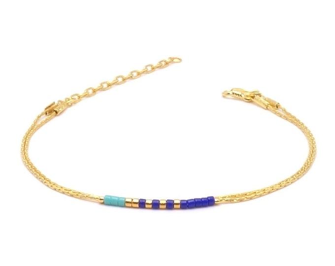 Armband - Seed Bead Blau