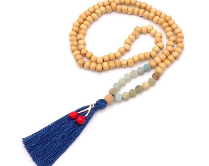 BOHO Halskette aus Holzperlen
