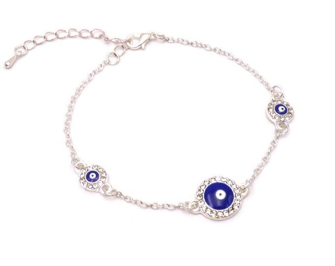 Armband - Nazar Silber