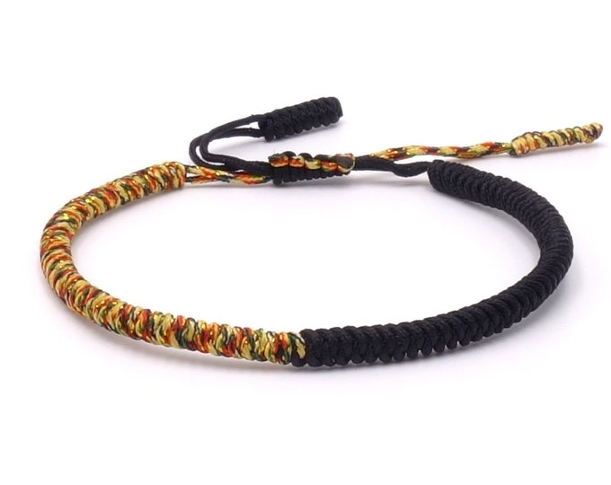 Tibet Armband - Rainbow Black