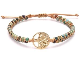 Yoga Armband - Jaspis Lebensbaum