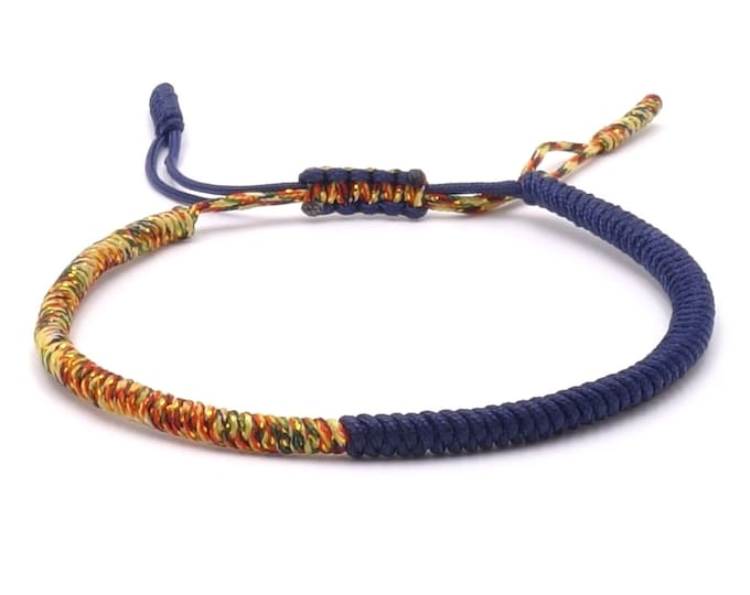 Tibet Armband - Rainbow Blue