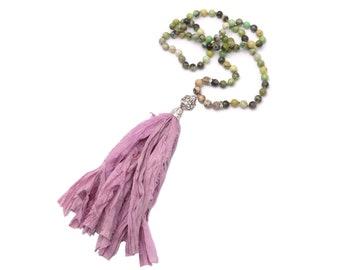 Halskette - Sari Silk 80 cm