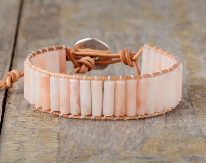 BOHO Armband - Rosenquarz Rosa
