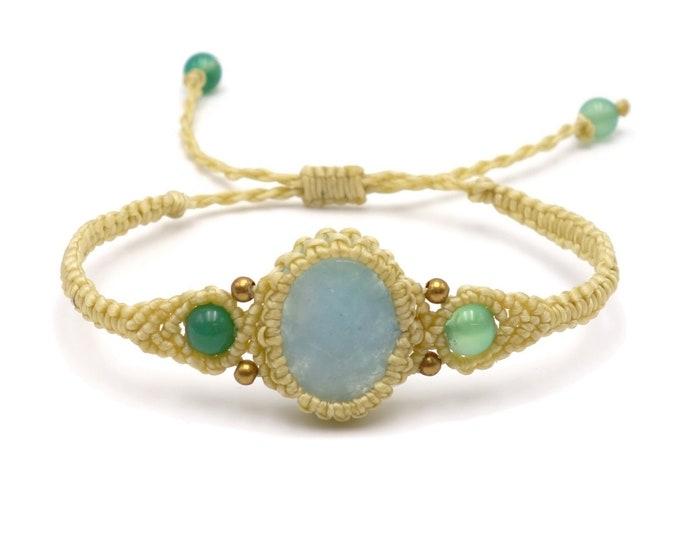 Makramee Armband - Grün