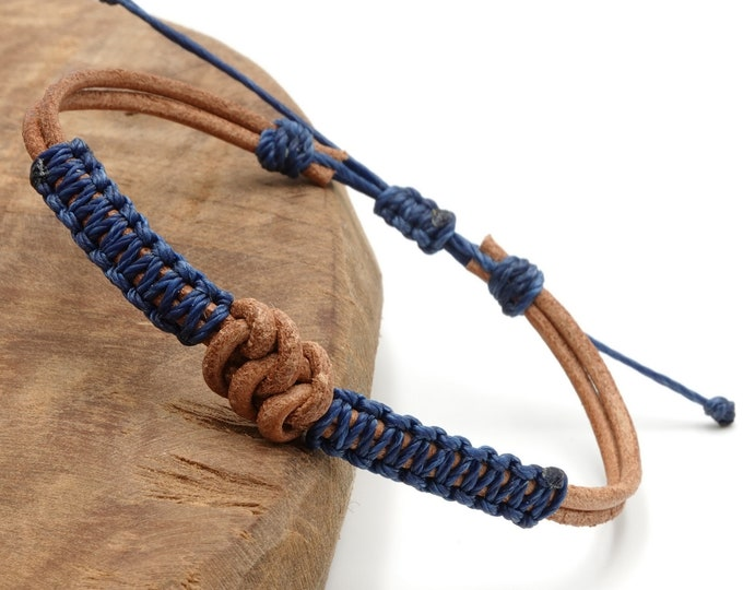 Tibet Armband - Leather Blau