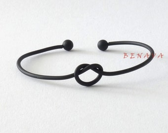 Bangle Bracelet knots black knot