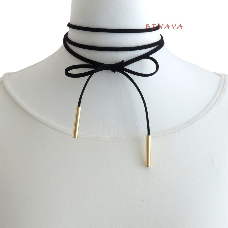 Choker chain Necklace Black gold necklace