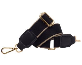 BENAVA Pocket Belt Shoulder Strap for Bags Black Grey Gold Silver Adjustable Wide Cotton