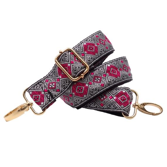 BENAVA tas riem gekleurd schouderbanden voor handtassen en zakken met ingecheckte patroon verstelbare 60 120 cm met carabiner