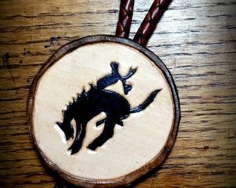 Bucking horse bolo