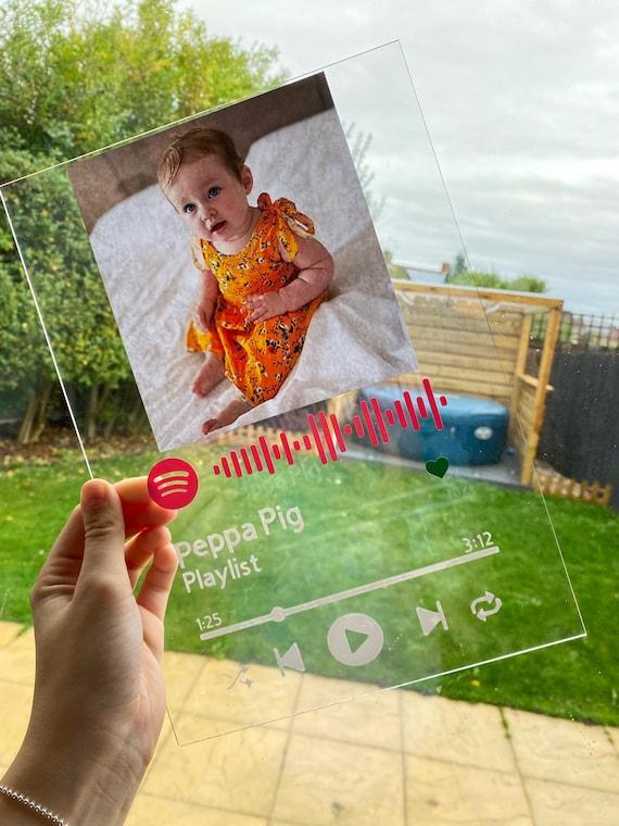 Cornice di vetro Spotify A4 personalizzata