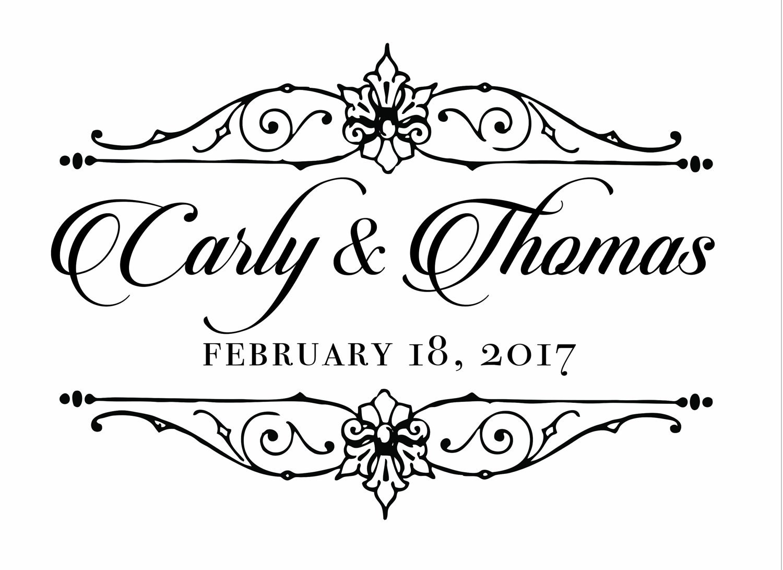 custom names bride and groom wedding logo gobo light  etsy