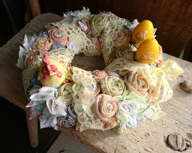 Shabby Chic Spring Wreath Country House Romantic Easter Etsy