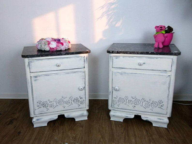 Table De Chevet Shabby Chic Table De Chevet Petit Meuble Etsy