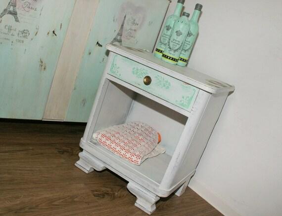 Shabby Chic Holz Kommode Nachtschrank Pastell Vintage Etsy