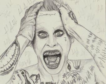 Harley Quinn Suicide Art Etsy