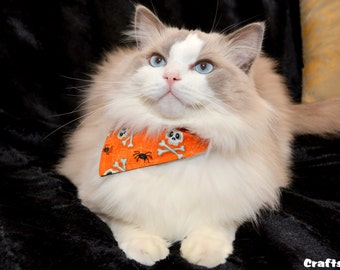 Bandana for Cat & Dogs - Kerchief for Pet - Cat costumes - Bib for Cats and Kittens