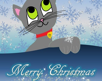Merry  eCard Cat -  & Seasonal Cards