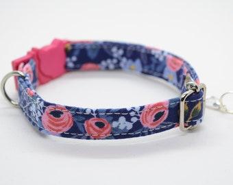 Cat Collar Lucy's Garden (breakaway) / cat collar, kitten collar, breakaway cat collar, rose cat collar, summer, girl cat collar